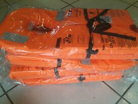 Four 100N Samsa approved life jackets on special